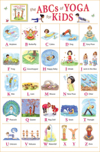 "My ABC Alphabet Learn table Fabric poster  20"" x 13""Decor-01"
