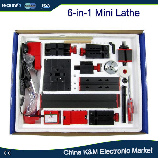 Multifunctional 6 in 1 mini lathe tool DIY driller drilling machine for wood and metal<br><br>Aliexpress