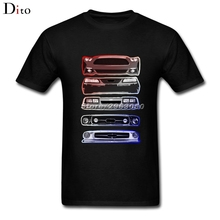 Mustang Legacy T-shirt Men Boy Multi-color Custom Short Sleeve Boyfriend's Plus Size Party Tee Shirts(China)