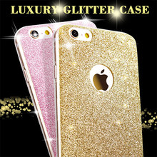 Luxury Fashion Glitter Bling Phone Cases For Apple iPhone 5 5S SE 6 6S 7 Plus 7Plus Shine Protector Soft TPU Cell Back Cover