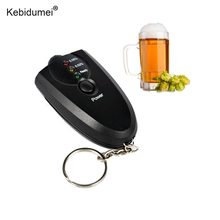 Kebidumei Professional Car Alcohol Tester High Accuracy Detector Alcohol Alkohol Detector Breathalyzer Alcotest LED Flashlight(China)