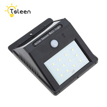 TSLEEN 12 Led solar post light lampes solaires jardin motion sensor garden lamp fontes de agua decorativas luce solare(China)