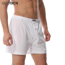 100% Cotton Shorts Brand Boxers Men Loose Trunk Plus Size Fly Button Midpants Mens Cuecas Ropa Interior Hombre Gootuch 062(China)