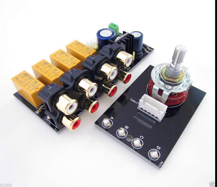 Audio Input signal Selector Relay Board/ Signal switching amplifier board DIY<br><br>Aliexpress