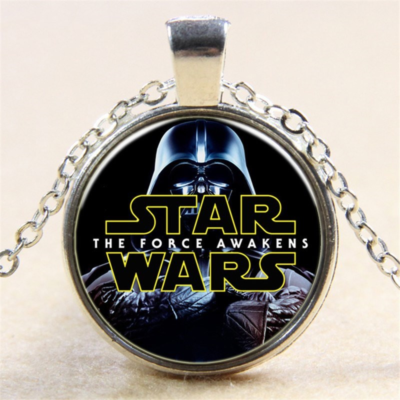 fashion Star Wars series necklace The Force Awakens1 gem glass pendant necklace simple Jewelry Cute Gifts for children