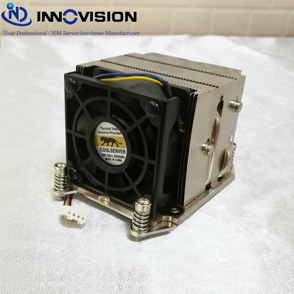 LGA2011 narrow 2u heatsink for 2u/ 3u/4u/workstation server thermal CPU cooler 2011-2URCF<br>