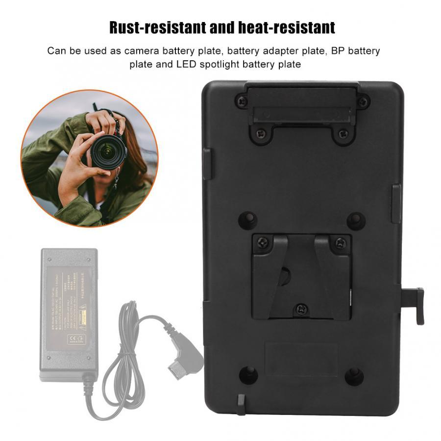 Batería de cámara portátil adaptador de placa de montaje V-Lock fuente de alimentación para DSLR Sony