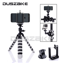 "Flexible Mini Phone Stand Mobile Tripod Flexible Octopus 2-in-1 Gorillapod 8"" for iPhone 7 GoPro hero 5 Canon Sony SJCAM Camera"