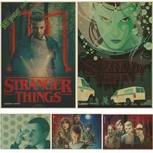 Classic movie Stranger Things Propaganda Terror Poster Retro Vintage Kraft Decorative Wall Sticker Home Posters Decoration(China)