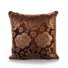 PANFELOU 45*45cm  European  environmental dark brown background golden mum Cushion Cover  for sofa livingroom bedroom
