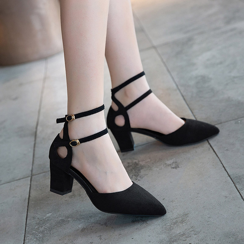 Adult Latin Dancing Shoes Womens Kitten Heels Ankle Strap Modern Shoes OL Pumps