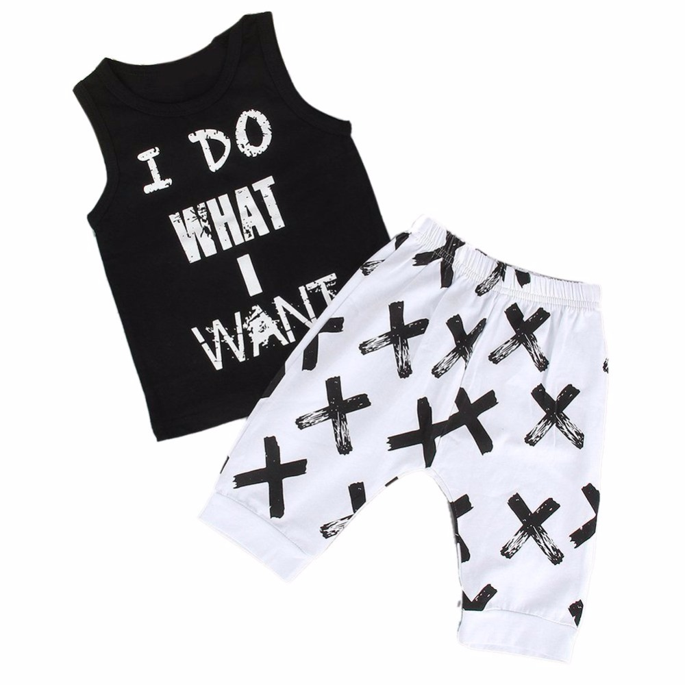 Toddler Kids Baby Boy Clothing Sets  Summer T-shirt Vest + Long Pants 2Pcs Outfits Suits<br><br>Aliexpress