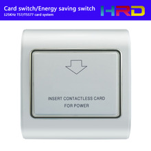125KHz low frequency Rfid Hotel Card  Energy saving switch  Wall Switch 30A 180-250V  +card