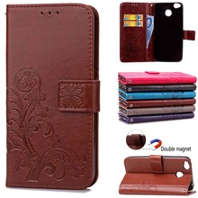 BEFOSPEY Leaf Leaves Magnetic Wallet Leather Phone Case For Xiaomi Redmi 4X Luxury Elegant Cover Cases Mobile Phone Holster Bag