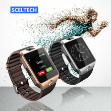 SCELTECH DZ09 Men Sport Smart Watch Wearable Devices with Camera Sim Card Bluetooth 3.0 Smartwatch for Android Apple Phone(China)