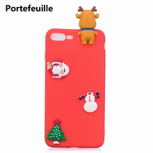 Portefeuille For Christmas iPhone Case Santa Claus Silicone Case Cover For iPhone 7 Plus 8 6 6S 5 5S SE X Coque Capa Accessories
