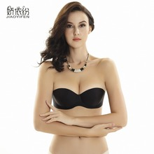 Hot sale sexy bra bride dress seamless lnvisible bras one-piece contact transparent women ABCD 1/2 cup bra non-slip underwear
