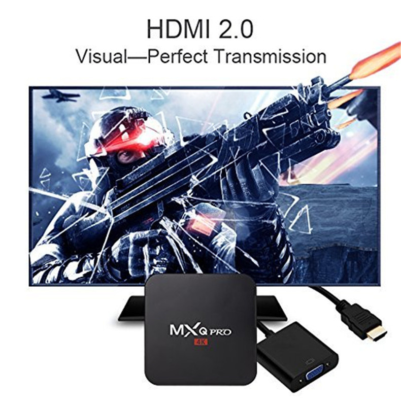 1743 HDMI MXS Plus TV BOX Quad Core Android 5.1 Wifi 5V//2A 8GB EMMC 1GB DDR3