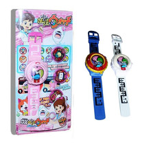 Anime yokai Cartoon Electronic Watch W/Light Music Medals Anime Watches Projection Watch Madal Toys For Kids Gifts