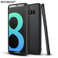 Roybens S8 Plus Case Fashion Original Jet Black Cover For Samsung Galaxy S8 Silicone Case Ultra Thin Slim Soft TPU Gel Fundas