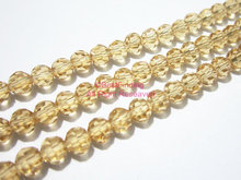 4x3mm Tawny faceted crystal beads oval faceted glass beads BKCB11(China)