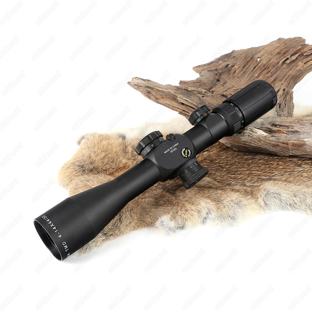 BSA TMD 4-14X44-30 IR Hunting Riflescope Side Parallax Tactical Optical Sight Red Green Reticle Illuminated Rifle Scope  (9)