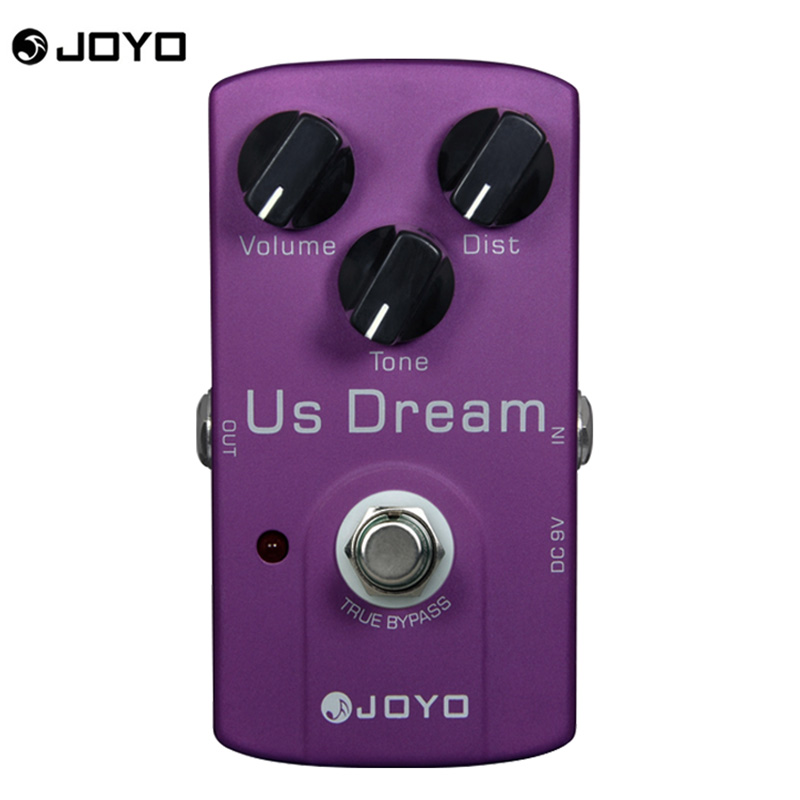 Joyo JF-34 US Dream Electric Guitar Effect Pedal Box High Gain Distortion &amp; True Bypass &amp; 3 Knobs Guitar Accessories<br>
