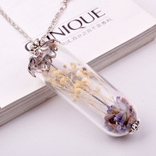 popular Vintage delicate simple Hot sale DIY Handmade wishing bottle necklace&pendant for girlfriend best birthday gift NN036