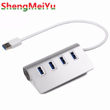 High Speed 4 Ports USB 3.0 Hub Portable Aluminum Hub USB Splitter for Apple For Macbook Air PC Laptop