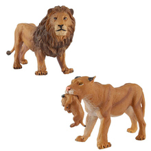 WAXSAM 2017 Lion Model Toy Wild animals toys set Zoo modeling plastic Solid mammal Classic Toys Children Animal Model cute king