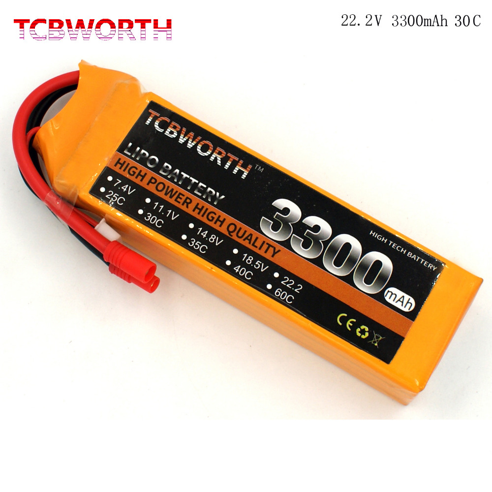 TCBWORTH RC Toys LiPo battery 6S 22.2V 3300mAh 30C For RC Airplane Helicopter Quadrotor Drone Car boat Truck Li-ion battery<br>