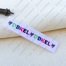 woven labels/garment T-shirt embroidered tags/brand name/logo tag printing Digital printing digital brand