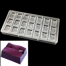 irregular polycarbonate Chocolate Mold ,bakeware pan Plastic chocolate moulds Cake Candy jelly tool Baking kitchen Accessories(China)