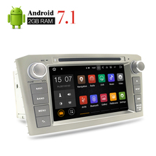 "7"" HD 2G RAM Android 7.1 Car DVD Stereo Headunit For Toyota Avensis T250 2003-2008 Auto PC Radio GPS Navigation Video Audio play"