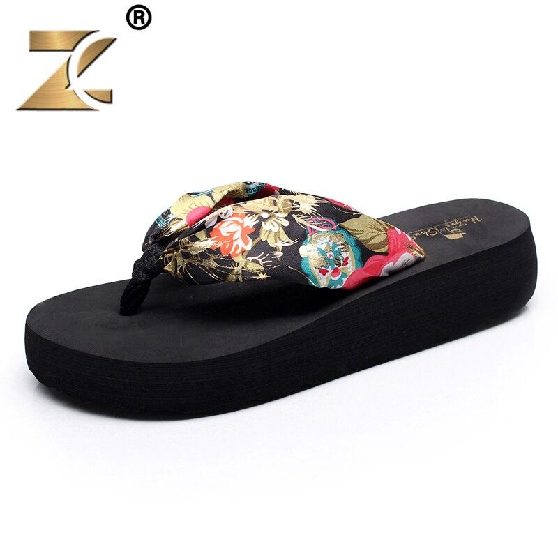 Z 2017 Fashion Canvas New Brand Women Casual Shoe European Style Flower Patchwork Design Ladies Elegant Sandals Beach Flip Flops<br><br>Aliexpress