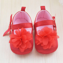 Red Flower Princess soft baby shoes for girl baby shoe 3 size Prewalker