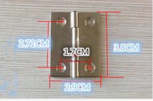 Hardware supplies Stainless steel DIY parts cabinet door hinge small hinges of 1.5 inch