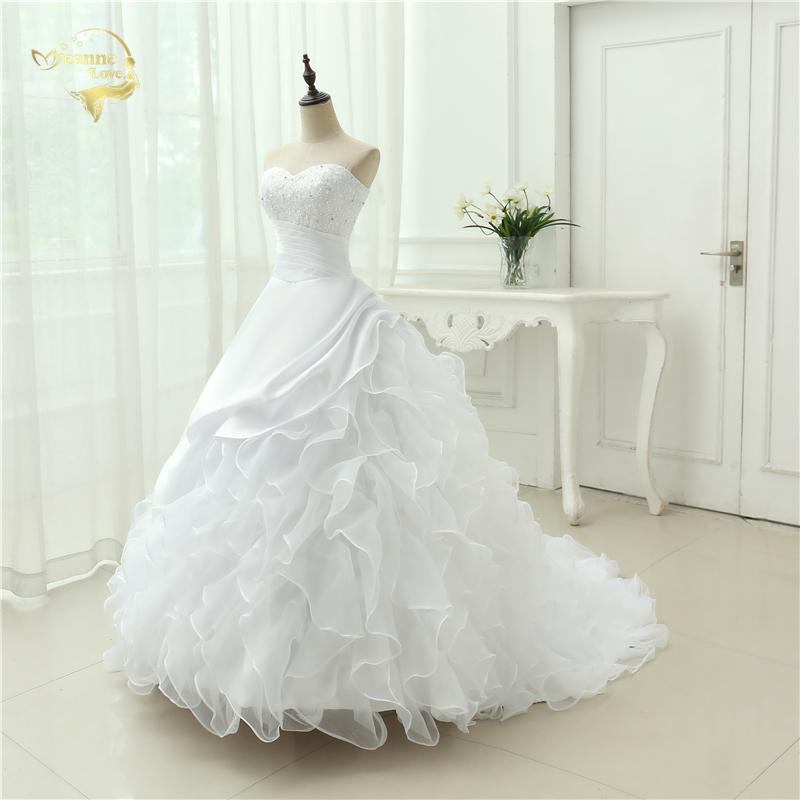 Classic Style Vestidos De Noiva A Line Robe De Mariage Strapless Applique Bridal Gown Wedding Dress 2018 Chapel Train YN0120 4