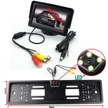 Smart Car Styling Parking System with 4.3''  Monitor Black License Plate Rear View Camera Park Equipment