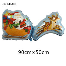 BINGTIAN Santa Claus foil balloons merry Christmas party decoration helium balloon Christmas balloons inflatable toys(China)