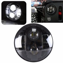 "7"" Round LED Head lamp 80W Car Led Headlights H4  H13 For Jeep Wrangler Toyota Harley Lan-d Rover, Defender"