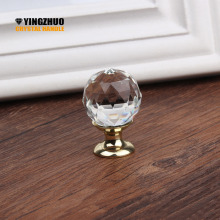 Hot 25mm Genuine Crystal Ball Design Clear Crystal Glass Knobs Cupboard Drawer Pull Kitchen Cabinet Wardrobe Handles Hardware