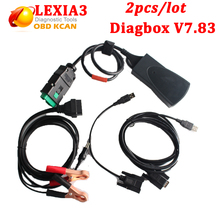 2pcs/lot Lexia 3 Diagbox V7.83 lexia3 PP2000 diagnostic tool For Citroen for Peugeot lexia 3 V48 PP2000 V25 with DHL free ship