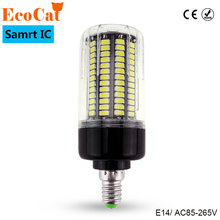 ECO CAT LED E14 Corn Bulb 220V 110v LED lamp No Flicker Smart IC Design High Lumen 5736 long Life Span LED lamp Spot light(China)