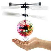 New Arrival RC Flying Ball Drone RC Toy Helicopter Ball Built-in Shinning LED Lighting Colorful Flyings Toy For Kids Teenagers(China)