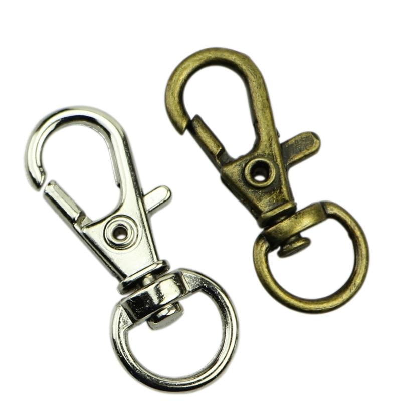 20pcs Heavy Duty Swivel D Ring Snap Hooks Trigger Lobster Clasps Clips 30mm