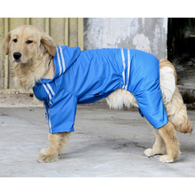 Good Quality Fashion Designed Hooded Large Size Dog Raincoat Puppy Pet Product Dog Raincoat Pet Supplies Puppy Hoodies(China)