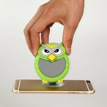 Great Mini Bluetooth Owl Speaker Portable Rechargeable Wireless Speaker Green