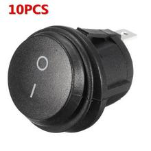 New Product Offers 12V On/Off Round Rocker Switch Car 10A/250V 16A/125V SPST Switches Dashboard Dash Waterproof Dust Proof