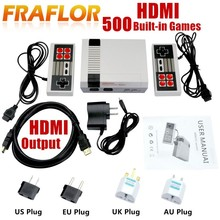 HD HDMI Out Retro Classic Handheld Game Player Family TV Video Game Console Childhood Built-in 500 Games For NES Mini HDMI HD(China)